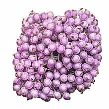 Ягідки в цукрі декоративні бузкові 400 шт 12мм
