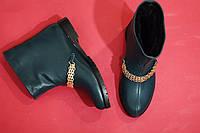 Стильные зимние женские ботинки на цигейке от TroisRois из натуральной турецкой кожи и прочной подошвы Зеленый
