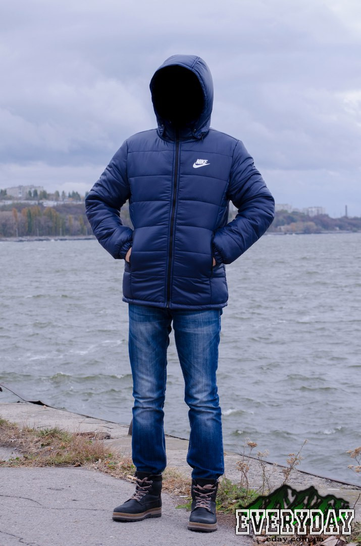 76006ac0 Зимняя мужская спортивная куртка Nike, тёмно-синяя размер М распродажа -  Интернет-магазин
