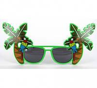 Очки - party Попугай на пальме,смешные очки