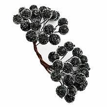Ягоди в цукрі декоративні чорні 12 мм