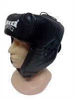 Шлем боксерский кожаный L Boxer светло-синий