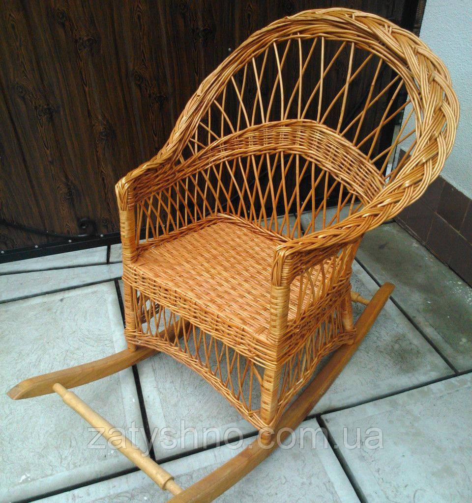 Кресло качалка плетеное