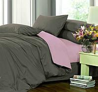 Полуторное постельное белье, Сатин однотонный, микс №240+№005