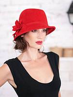 Шляпка из фетра под мужской стиль с ассиметричными полями