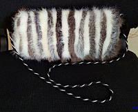 Cумка из натурального меха нутрии 30х15 см, фото 1