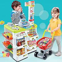 Детский игровой набор Магазин 668-03 с продуктами и тележкой