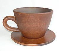 Чашка кофе 150 мл гладкая на блюдце
