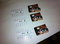 Печать, изготовление карманных календарей