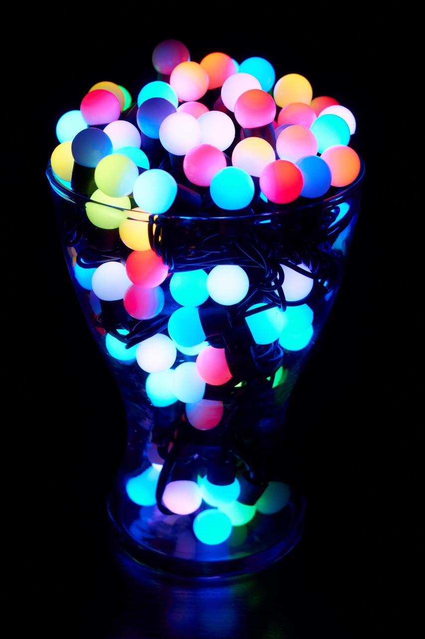 Гирлянда Светодиодные Шарики RGB 100 штук, 10 метров