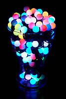 Гирлянда Светодиодные Шарики RGB 100 штук, 10 метров, фото 1