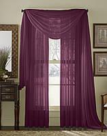 Тюль однотонная  Вуаль фиолет