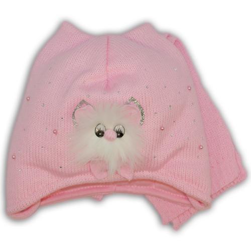 Вязаная шапочка и шарф для девочки