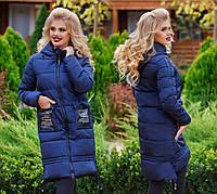 Женское зимнее пальто в больших размерах