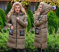 Женское зимнее пальто холлофайбер в больших размерах