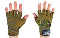 Перчатки для пауэрлифтинга SCHIEK BC-4928-HG(L) с напульс. (PL, откр.пальцы,р-р L,камуфляж Woodland)