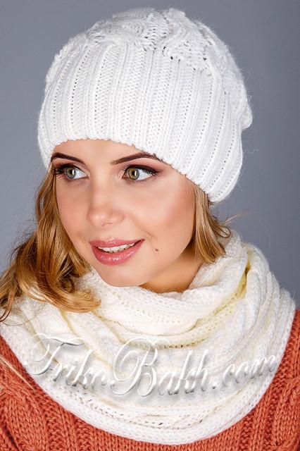 Комплекты женские (шапка с шарфом)