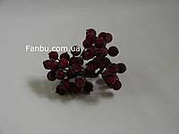 Искусственные засахаренные ягоды для декора вишневые d=1,2см (1 упаковка - 40 ягодок)