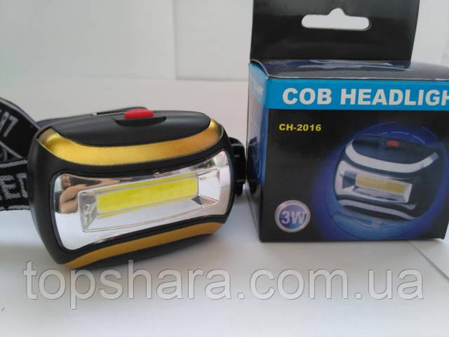 головной фонарик  COB CH-2016