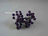 Искусственные засахаренные ягоды для декора фиолетовые d=1,2см (1 упаковка - 40 ягодок)