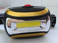Налобный фонарь COB Headlight CH-2016 черный Оригинал