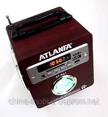 Акустическая колонка с ярким LED фонариком Atlanfa AT-R61, MP3 SD USB FM, red, фото 3