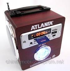 Акустическая колонка с ярким LED фонариком Atlanfa AT-R61, MP3 SD USB FM, red, фото 2