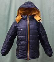 Теплая зимняя курточка для мальчика на овчине