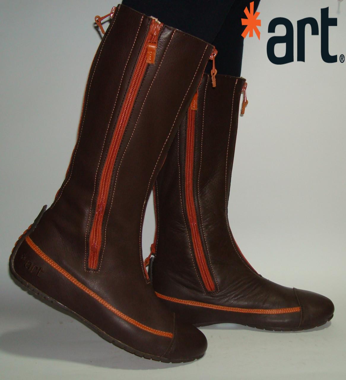 Сапоги кожаные высокие ART