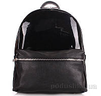 Рюкзак женский кожаный Poolparty Mini Bckpck transparent black