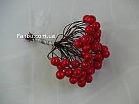 Искусственные  ягоды(лаковые) для декора красные d=1см (1 упаковка - 50 ягодок)