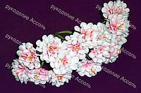 Искусственные цветы для украшений астра бело-розовая 3 цветка