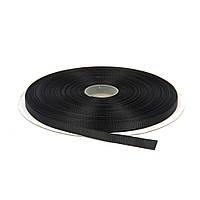 Лента репсовая 0.6 см Черная 23 метра