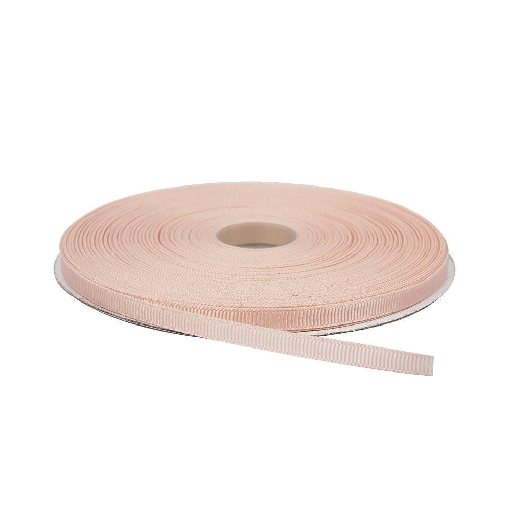 Лента репсовая 0.6 см Персиковая 23 метра
