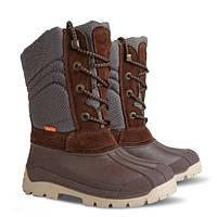 Зимние сапоги-сноубутсы Demar Voyager коричневые р.35-42 для мальчиков подростков на овчине
