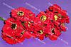Искусственные цветы мака для украшений 4.5см красного цвета 3 шт/уп