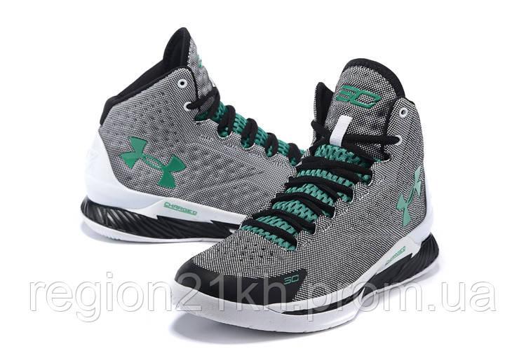 Баскетбольные кроссовки Under Armour Curry One Grey Green White
