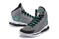 Баскетбольные кроссовки Under Armour Curry One Grey Green White, фото 1