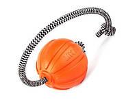 М'ячик для собак Collar Liker Cord, корд на шнурку, діаметр 5см