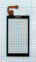 Тачскрин сенсорное стекло для Nokia X6-00 black