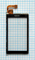 Тачскрин сенсорное стекло для Nokia X6-00 with frame black