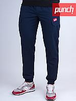 Зимние штаны Punch карго синие, утепленные