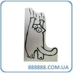Наклейка Котик + когти 11 х 16см