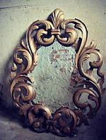 Рама зеркала из дерева - ручная резьба, фото 1