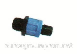 Муфта наружная резьба для ленты Drip Tape, Dn17х3/4(MHP17x3/4)