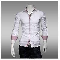 Рубашка мужская с цветным манжетом 46р.