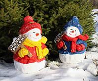 Снеговик с табличкой 43см