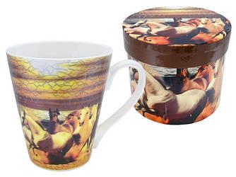 Чашка фарфоровая для чая с лошадью купить в Харькове