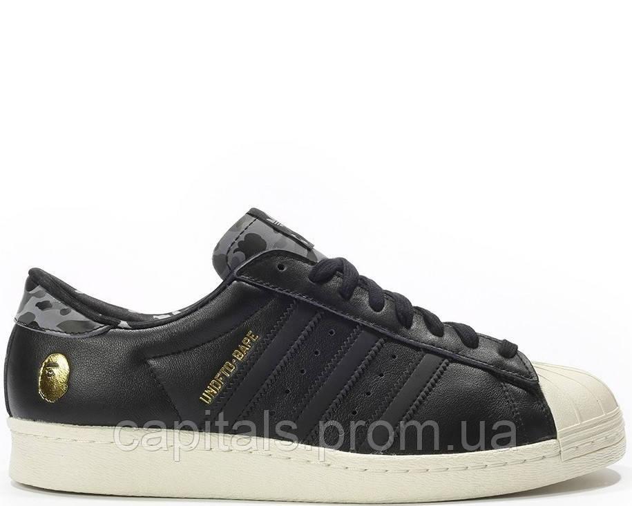 мужские кроссовки Adidas Ss80v Superstar Undftd X Bape Black