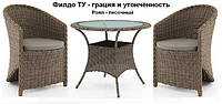 Набор мебели ФиЛдо ТУ - песок - мебель из искусственного ротанга - мебель для веранды